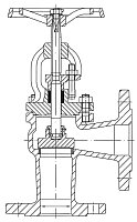 AW 259 Flanged Stop Valve, angle pattern
