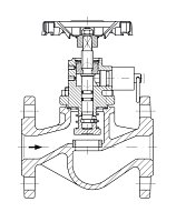 AW 33204 Quick-closing Valve, springloaded, straight pattern, manual operation
