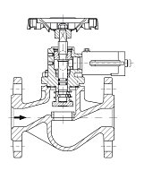 AW 33215 Quick-closing Valve, springloaded, straight pattern, hydr./pn. operation, fire safe