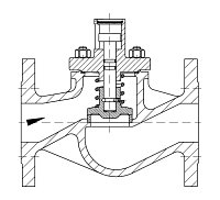 AW 35814 Self-closing Valve, springloaded, straight pattern, without hand wheel