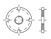AW 596 Flange with BSP-female thread Marpol DIN 86282