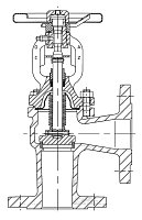 AW 733 Flanged Stop Valve with bellows seal, angle pattern